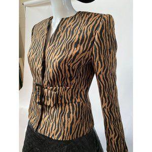 Liz Claiborne Petite Animal Print Jacket